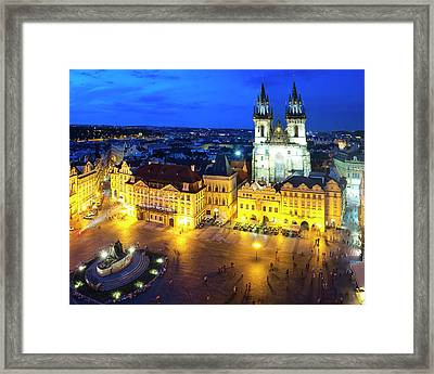 Framed Print featuring the photograph Old Town Square by Fabrizio Troiani