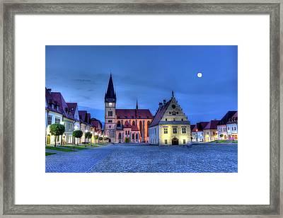 Old Town Square In Bardejov, Slovakia,hdr Framed Print by Elenarts - Elena Duvernay photo
