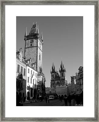 Old Town Square Framed Print by Keiko Richter