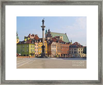 Old Town Square Zamkowy Plac In Warsaw Framed Print