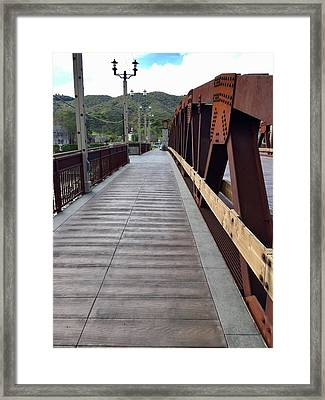 Old Town Temecula Bridge Framed Print