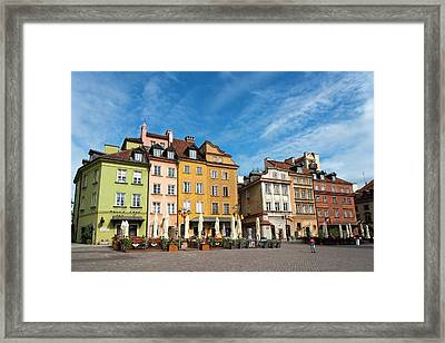 Framed Print featuring the photograph Old Town Warsaw by Chevy Fleet