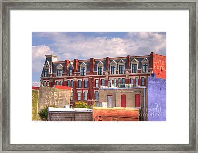 Old Town Wichita Kansas Framed Print by Juli Scalzi