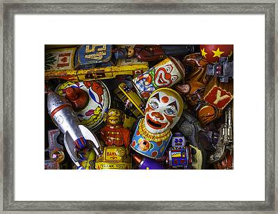 Old Toy Box Framed Print by Garry Gay