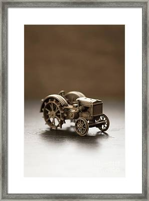 Framed Print featuring the photograph Old Toy Tractor by Edward Fielding