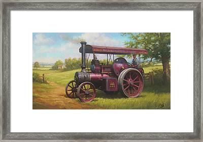 Old Traction Engine. Framed Print