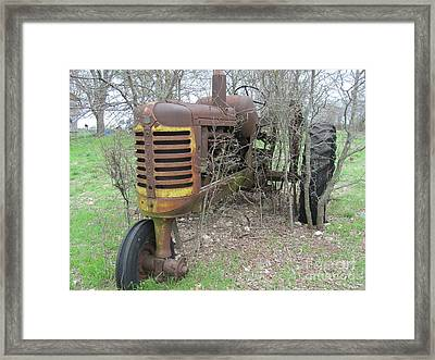 Old Tractor Framed Print by Austin Clarke