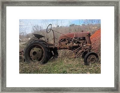 Old Tractor-clarks Farm Framed Print