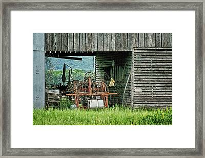 Old Tractor - Missouri - Barn Framed Print by Nikolyn McDonald