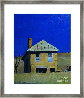 Old Trading Post On A Blue Sky Day Framed Print by Charlie Spear
