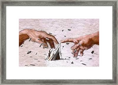 Traditional Art Vs. Digital Art Framed Print
