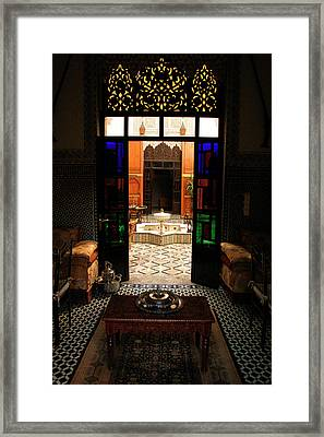 Old Traditional Riad In Fez Framed Print