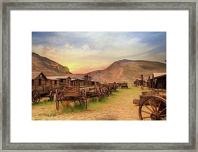 Old Trail Town Framed Print by Lori Deiter
