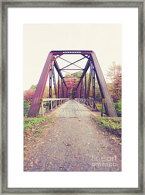 Framed Print featuring the photograph Old Train Bridge Newport New Hampshire by Edward Fielding