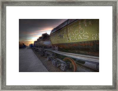 Old Train - Galveston, Tx 2 Framed Print by Kathy Adams Clark