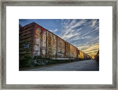 Old Train - Galveston, Tx Framed Print by Kathy Adams Clark