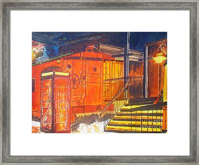 Old Train Station Framed Print