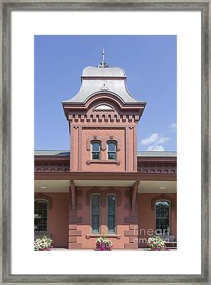 Old Train Station Waterbury Vermont Framed Print