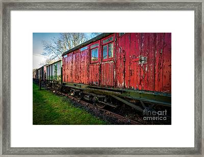 Old Train Wagon Framed Print by Adrian Evans
