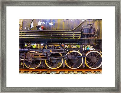 Old Train Wheels Framed Print by Garry Gay