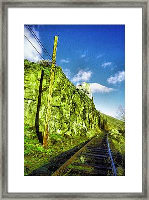 Framed Print featuring the photograph Old Trolly Tracks by Jeff Swan