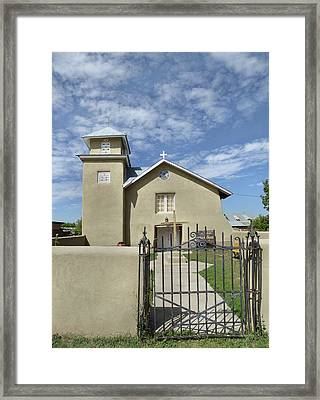 Old Truchas Mission Framed Print by Gordon Beck