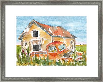 Old Truck Abandoned Framed Print by Pat Katz