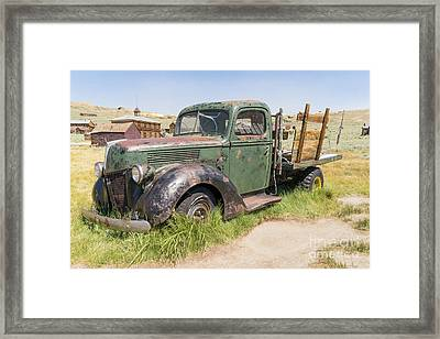 Old Truck At The Ghost Town Of Bodie California Dsc4307 Framed Print by Wingsdomain Art and Photography