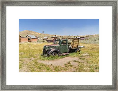 Old Truck At The Ghost Town Of Bodie California Dsc4380 Framed Print by Wingsdomain Art and Photography