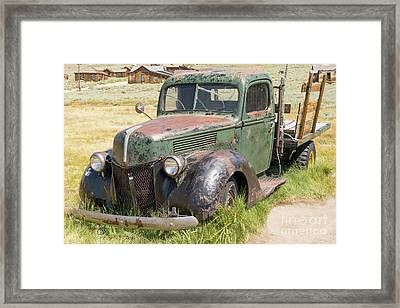 Old Truck At The Ghost Town Of Bodie California Dsc4384 Framed Print by Wingsdomain Art and Photography