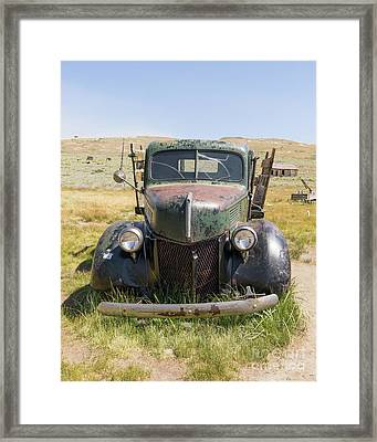 Old Truck At The Ghost Town Of Bodie California Dsc4388 Framed Print by Wingsdomain Art and Photography