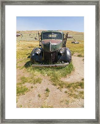 Old Truck At The Ghost Town Of Bodie California Dsc4389 Framed Print by Wingsdomain Art and Photography