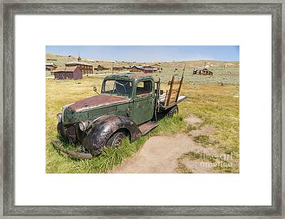 Old Truck At The Ghost Town Of Bodie California Dsc4395 Framed Print by Wingsdomain Art and Photography