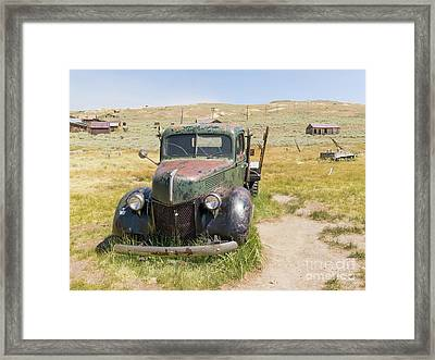 Old Truck At The Ghost Town Of Bodie California Dsc4399 Framed Print by Wingsdomain Art and Photography
