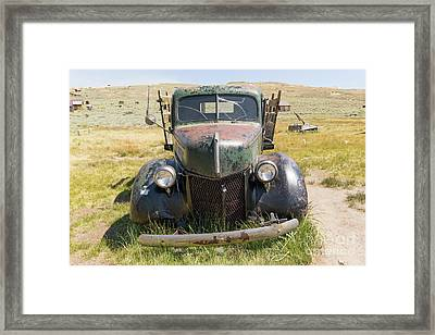 Old Truck At The Ghost Town Of Bodie California Dsc4402 Framed Print by Wingsdomain Art and Photography