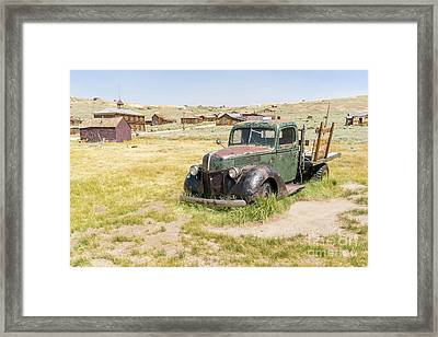 Old Truck At The Ghost Town Of Bodie California Dsc4403 Framed Print by Wingsdomain Art and Photography