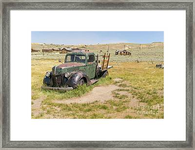 Old Truck At The Ghost Town Of Bodie California Dsc4404 Framed Print by Wingsdomain Art and Photography