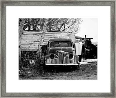 Old Truck Baw Corinth North Dakota Framed Print