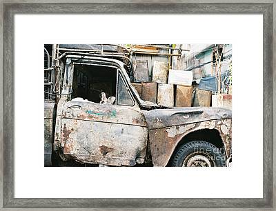 Old Truck Framed Print by Dean Harte