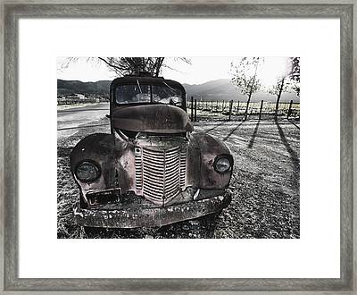 Old Truck In Napa Valley Framed Print by George Oze