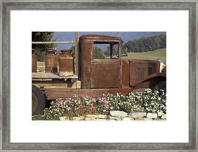 Old Truck In Tennessee Framed Print by Stan and Anne Foster