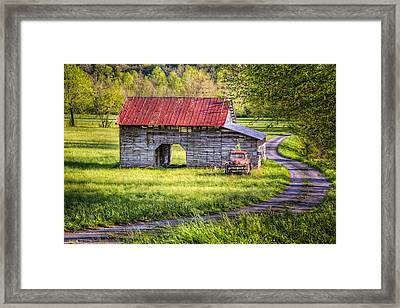 Old Truck In The Field Framed Print