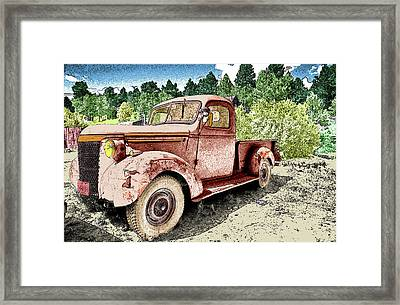 Old Truck Framed Print by James Steele