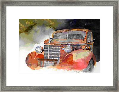 Old Truck Framed Print by Jerry Kelley