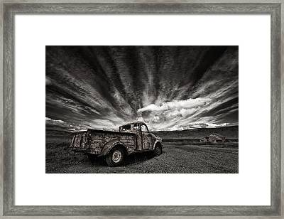 Old Truck (mono) Framed Print
