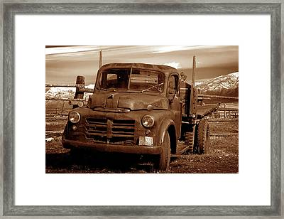 Framed Print featuring the photograph Old Truck by Norman Hall