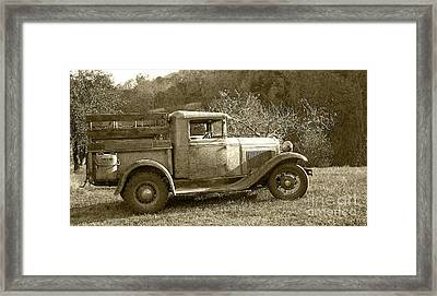 Old Truck On The Mountain Framed Print