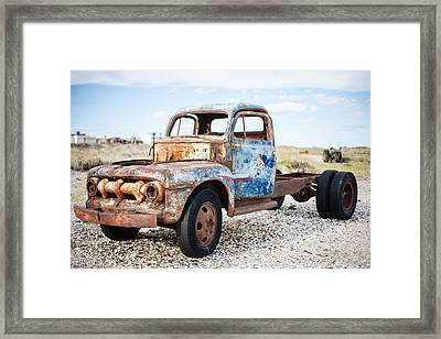 Framed Print featuring the photograph Old Truck by Silvia Bruno