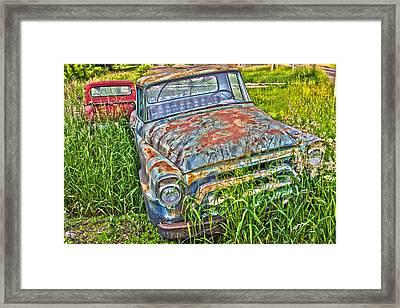 Old Trucks Framed Print