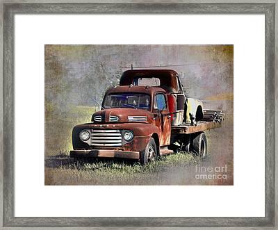 Framed Print featuring the photograph Old Trucks by Savannah Gibbs